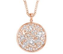 Halskette mit Swarovski® Kristallen und rosévergoldet