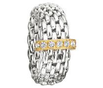 Damen - Flexring Silber mit Zirkonia