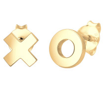 Ohrringe Xoxo Wording Trend Cool Blogger 925 Silber Figa