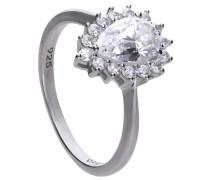 """Ring """"Tropfen"""", mit -Zirkonia, zus. ca. 1,60 ct."""