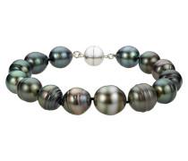 Perlen-Armband Sterling Silber 925 Tahiti-Zuchtperle 11,0-12
