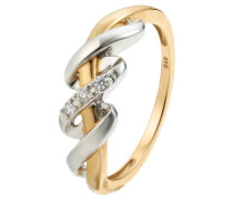 Diamant-Ring Gold 375, zus. ca. 0,05 ct