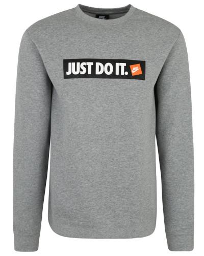 Sweatshirt, meliert, Front-Print, Rundhalsausschnitt