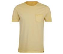 T-Shirt, gestreift, Brusttasche, offene Saumkante