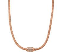 Damenkette Silber rosevergoldet mit Zirkonia