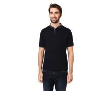 Poloshirt, Piqué, Henley-Ausschnitt