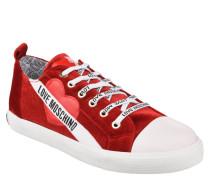 Sneaker, Patches, Schriftzug, Cordsamt, schimmernd