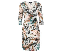 Midikleid, 3/4-Arm, Tropical Print, Wickel-Front