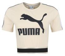 T-Shirt, cropped, Logo-Print, Reflektoren, Gummibund