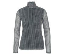 Langarmshirt, leicht transparent, Rollkragen