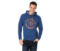 Sweatshirt, Kapuze, Logo-Print, gerippte Bünde