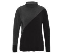 Pullover, Rollkragen, zweifarbig, Ripp-Saum