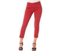 Jeans, Skinny Fit, 7/8, Falten-Details, Capri-Stil
