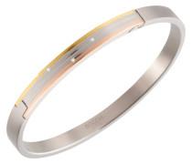 Armspange 03005-03, tricolor, mit 3 Diamanten, zus. 0