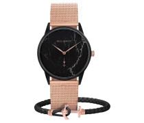 """Set Armbanduhr und Armband """"Black Marble"""" PH-PM-3-XS"""