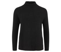 Pullover, Ripp-Strick, Stehkragen, Seitenschlitze