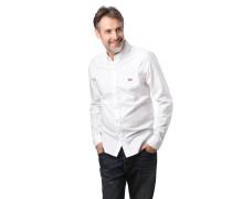 Freizeithemd, Button-Down-Kragen, Logo-Strickerei