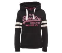 Sweatshirt, gummierter Logo-Print, Kapuze