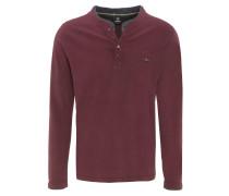 Langarmshirt, Henley-Ausschnitt, Lagen-Look, Logo-Stickerei