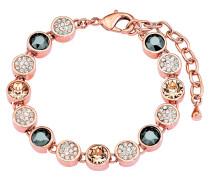Armband mit Kristallen rosevergoldet