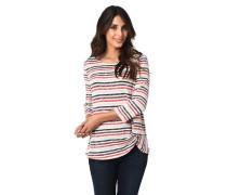 Shirt, 3/4 Arm, Streifen, Knoten-Detail, Rundhalsausschnitt