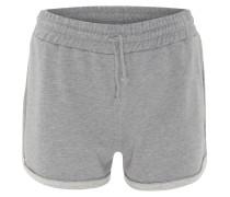 Shorts, Straight Fit, Jersey, umgeschlagener Saum