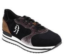 Sneaker, handgefertigt, Leder, Samt