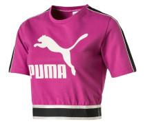 Cropped T-Shirt, Logo-Print, Rundhals