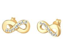 Ohrringe Infinity Symbol Swarovski® Kristalle Silber