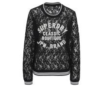 Sweatshirt, Spitze, Print, Streifen