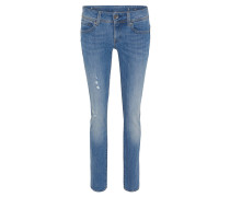 Jeans, Destroyed-Look, Waschung, Slim Fit