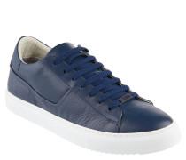 Sneaker, Leder, kontrastfarbene Laufsohle