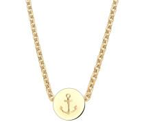 Halskette Anker Maritim Hafen Infinity 925 Silber