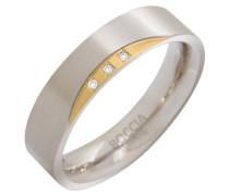 Ring 0138-04, mit 3 Diamanten, zus. 0,015 ct