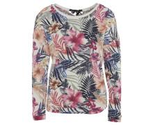 Sweatshirt, Tropical-Print, Schleife