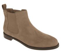 Chelsea Boots, Veloursleder, Logo-Emblem, unifarben