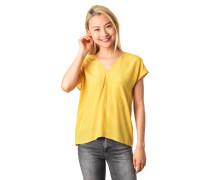 Blusenshirt, V-Ausschnitt, überschnittene Ärmel