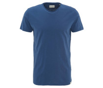 T-Shirt, uni, Flammgarn-Optik