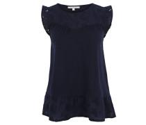 T-Shirt, Spitze, Flügel-Ärmel, Volant-Saum