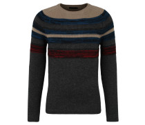 Pullover, Strick, gestreift, Woll-Anteil