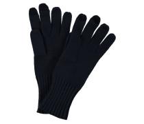 Handschuhe, Strick, uni, Woll-Anteil