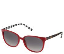 Sonnenbrille, Trapezform, Farbkontrast