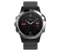 """Smartwatch """"fenix 5 Glass""""  / silber 010-01688-03"""