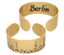 "Armspange mit Skyline ""Berlin"", Messing veret"