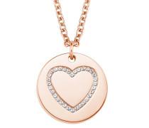 Damen-Halskette mit Herz-Anhänger IP ROSE