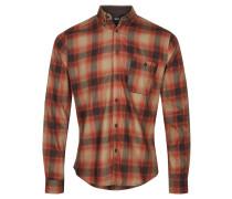 Freizeithemd, Karo-Muster, Button-Down-Kragen