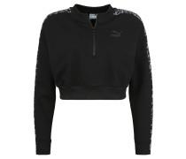 """Sweatshirt """"Wild Pack"""", cropped, Rippbund, Stehkragen"""