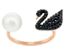 Iconic Swan Ring Black Jet 5256266