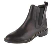 Chelsea Boots, Leder, Blockabsatz, Metallleiste