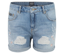"Jeans-Shorts ""Steph"", Boyfriend Fit, Stickerei, Used-Optik"